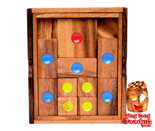 Khun Pan medium or the Khun Phaen sliding wooden game monkey pod wooden games Thailand