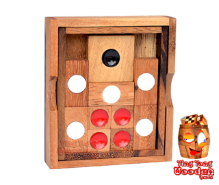 Khun Pan or the khun phaen wooden sliding game monkey pod wooden games Thailand