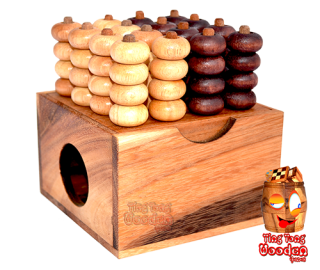 Four Win the 3D room mill here in the 4x4 variant Bingo from Monkeypod Wood Strategy game for 2 persons